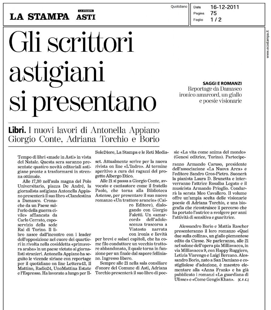 Articolo del 16/11/2011