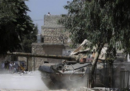 Carro armato - Aleppo, Siria
