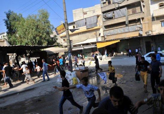 La guerra non conosce moderazione, Aleppo Siria
