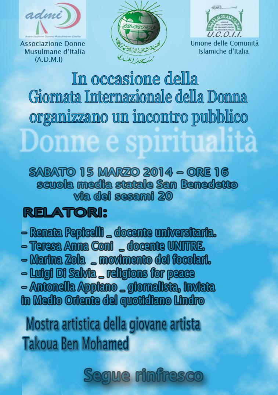 Donne e spiritualita - Sabato 15 marzo 2014