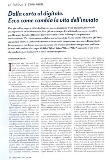 Dalla Carta al Digitale - Antonella Appiano - Qui Libri - marzo/aprile 2014