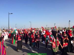 Sfilata in onore de ritorno in Oman del Sultano al Qaboos_filigrana
