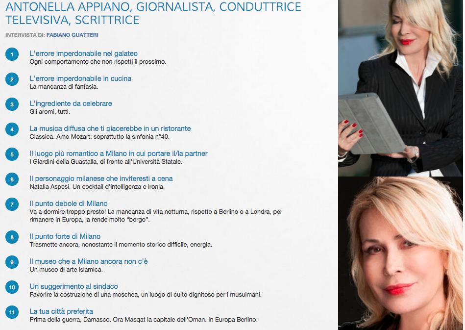 Citylightsnews intervista Antonella Appiano - Aprile 2015