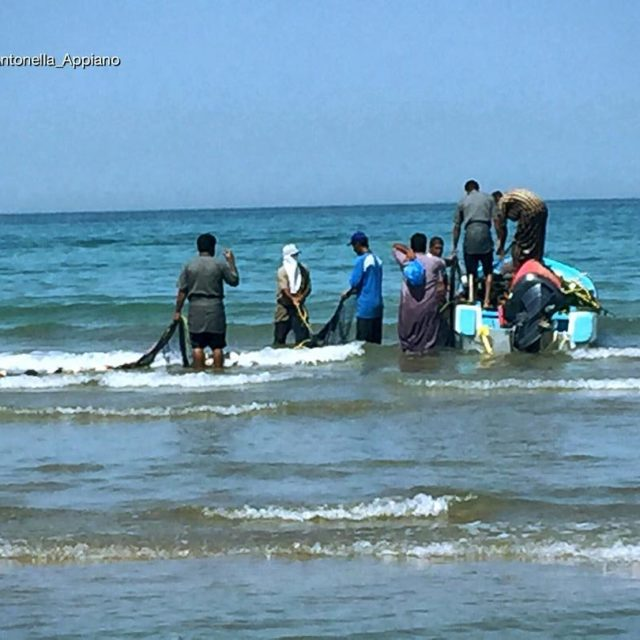 Fishermen in Shatti al QurumMuscat Sultanate of Oman